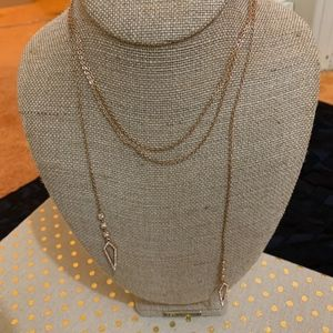Chloe + Isabel Rose Gold Lariat Necklace